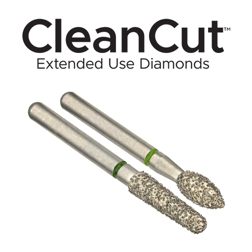 Clinician's Choice CleanCut Extended Use Diamond Burs